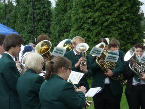 Band outdoors